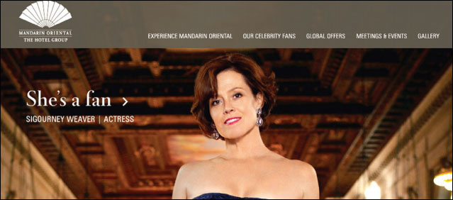 Mandarin Oriental hotels bank on celebrities