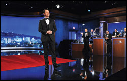 "Jimmy Kimmel, host of ""Jimmy Kimmel Live"" on ABC, seems to be the logical choice for the tricky job of Oscar host."