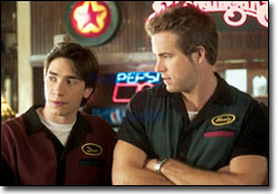 Waiting Ryan Reynolds on Justin Long  Left  And Ryan Reynolds Topline  Waiting       From Tyro